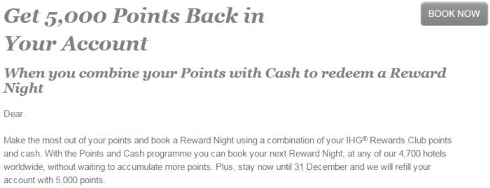 IHG Rewards Club Targeted Points + Cash 5000 Bonus