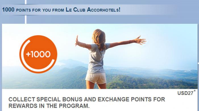 Le Club Accorhotels 1,000 Bonus Points Latvia Lithuania Poland November 1 - December 31 2014