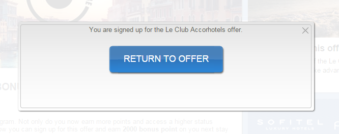 Le Club Accorhotels 2,000 Bonus Points November 21 - December 31 2014 Confirmation