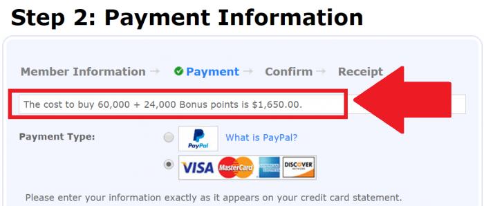 Southwest Airlines Buy Rapid Reward Points November 2014 Payment