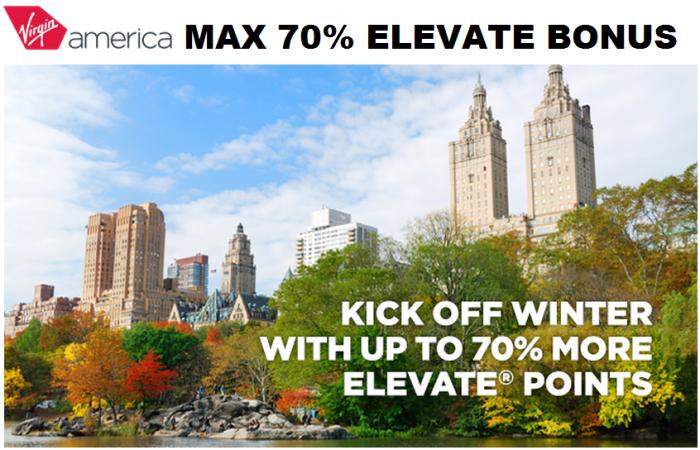 Virgin America Buy Elevate Points Up To 70 Percent Bonus