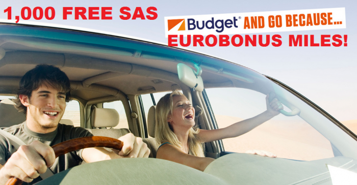 Budget Eurobonus 1,000 Free Miles