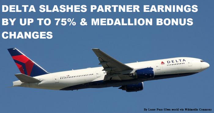 Delta Slashes Partners Earnings By Up To 75 Percent & Medallion Bonus Changes