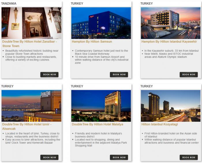 Hilton HHonors Bonus Miles Package Hotels 6