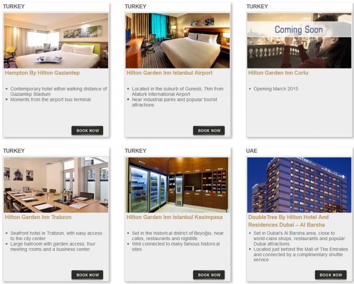 Hilton HHonors Bonus Miles Package Hotels 7