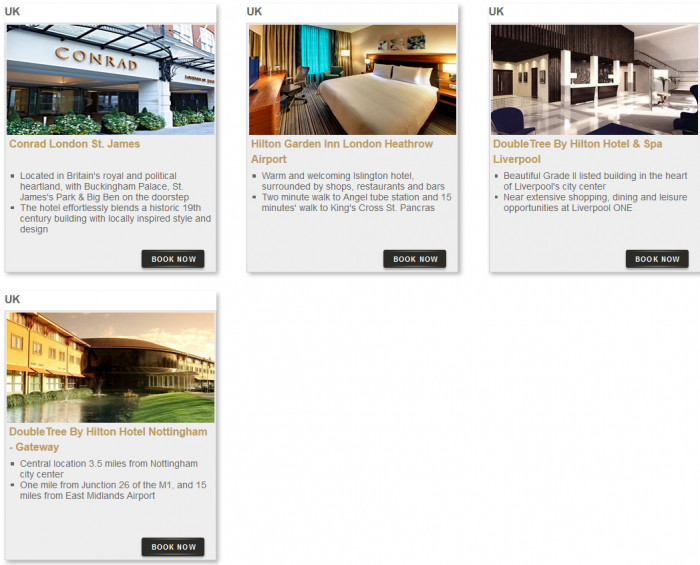 Hilton HHonors Bonus Miles Package Hotels 9