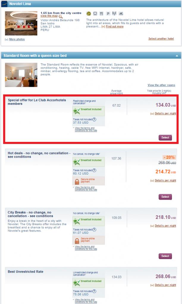 Le Club Accorhotels Latin America 50 Percent Off Weekends Dec 31 2015 Novotel Lima