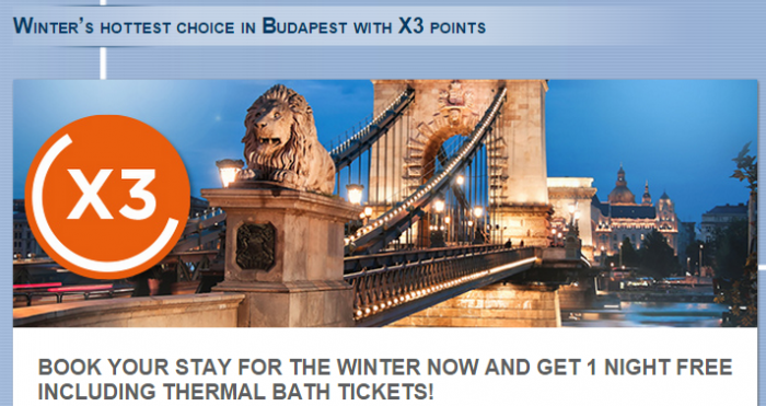 Le Club Accorhotels Budapest Triple Points Offer November 1 - April 5 2015