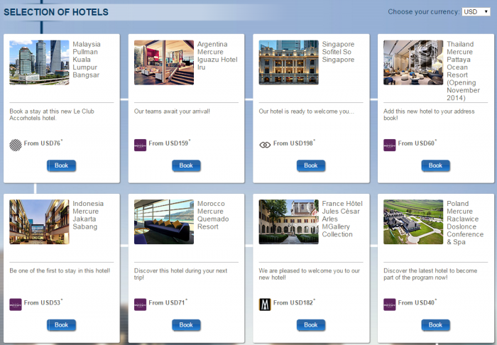 Le Club Accorhotels Quadruple Points New Hotels December 2014 Selection