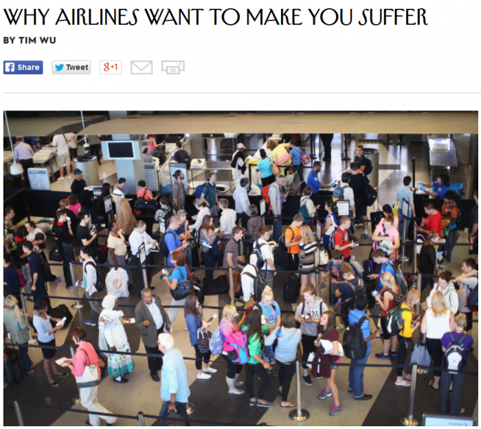 The New Yorker Why Airlines Want To Make You Suffer