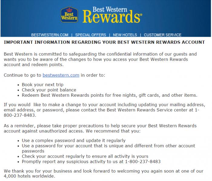 Best Western Rewards Hacked Too