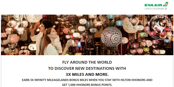 Hilton HHonors EVA Infinity MileageLand Triple Miles Offer January 1 - March 31 2015
