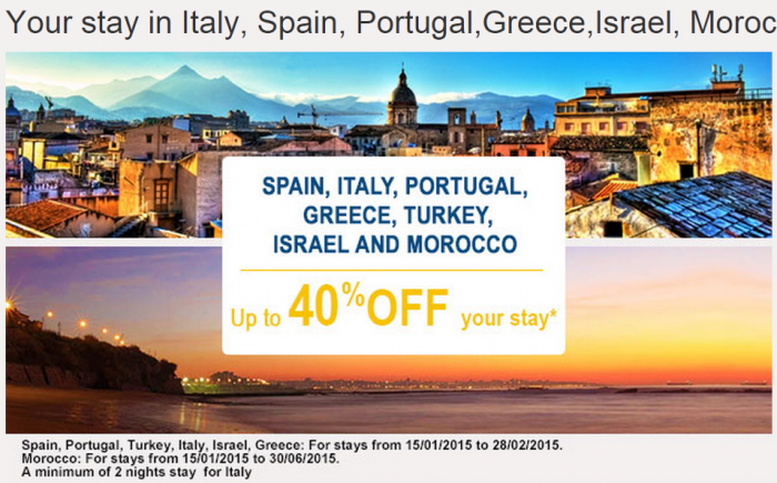 Le Club Accorhotels January 2015 Private Sales Italy Spain Portugal Greece Israel Morocco Turkey
