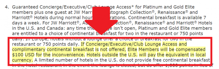 Marriott Rewards Terms and Conditions Update January 16 2015 Breakfast T&C Change