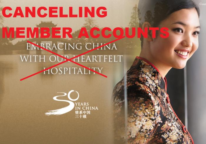 Shangri-La Golden Circle Canceling Member Accounts