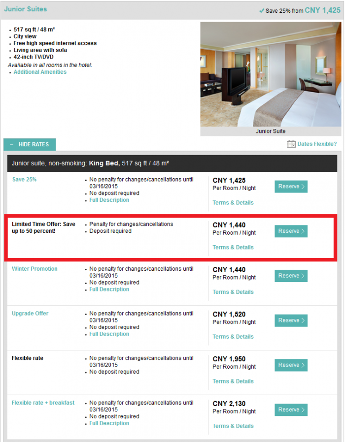 Starwood Greater China Up To 50 Percent Off Le Royal Meridien