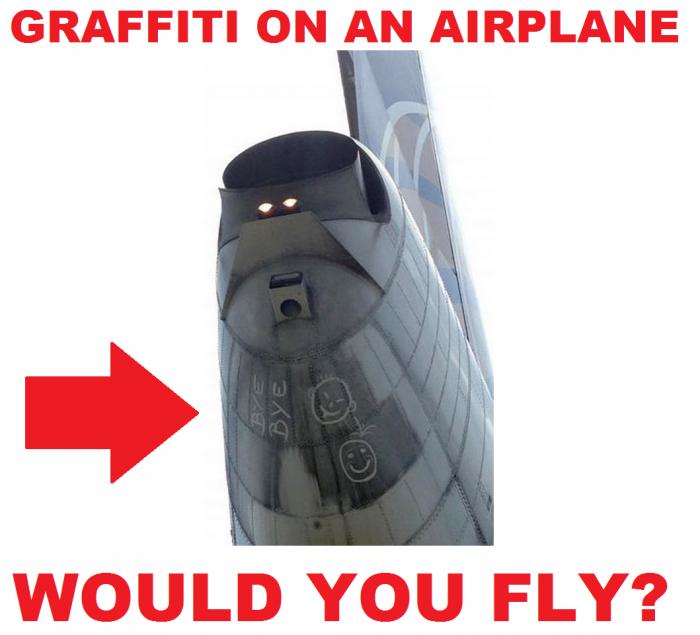 United Airlines Graffiti