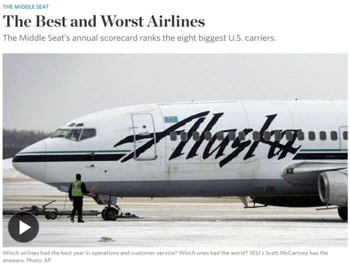 WSJ The Best and Worst Airlines