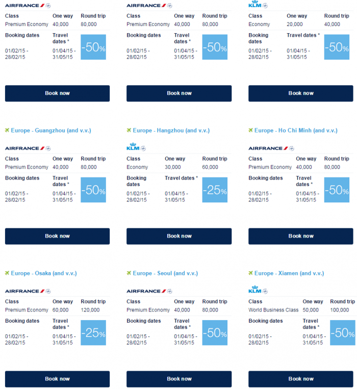 Air France-KLM Flying Blue Promo Awards February 2015 Asia Pacific 1
