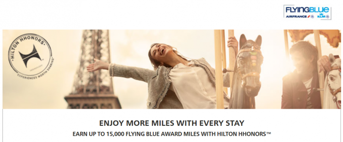 Hilton HHonors Flying Blue Up To 15,000 Bonus Miles February 1 - April 30 2015