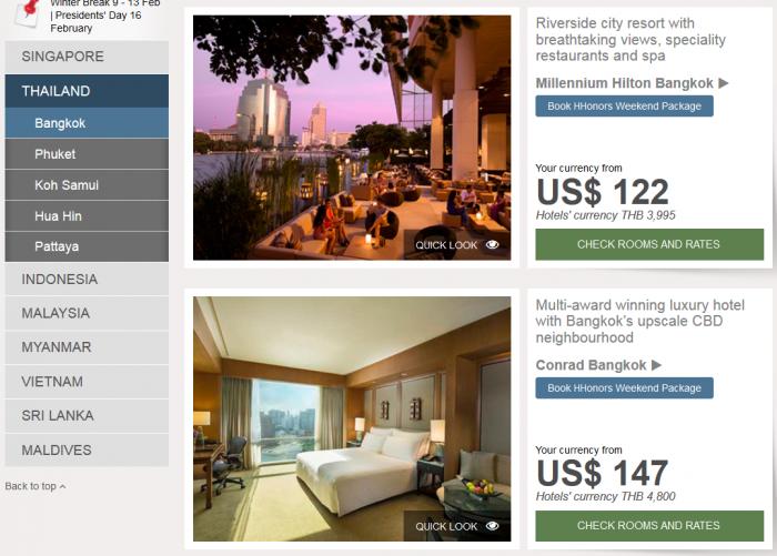 Hilton Southeast Asia Weekend Sale Thailand