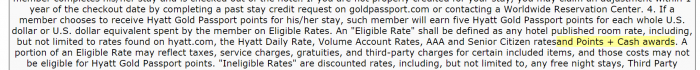 Hyatt Gold Passport Points + Cash