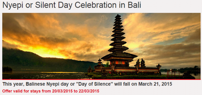 Le Club Accorhotels Nyepi Silent Day Celebration Bali March 20 - 22 2015