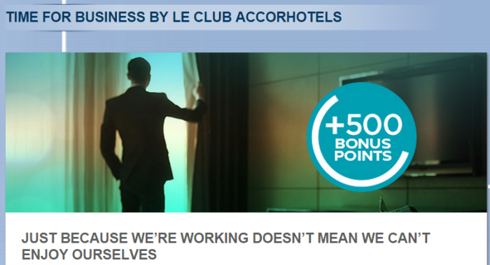 Le Club Accorhotels Pullman Time For Business Rate 500 Bonus Points Feb 5 Dec 31 2015