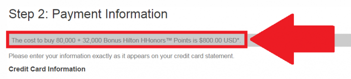 Hilton HHonors Buy Points Bonus April 22 2015 Price