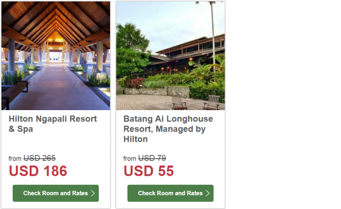 Hilton South East Asia Dream Resorts Promotion 4