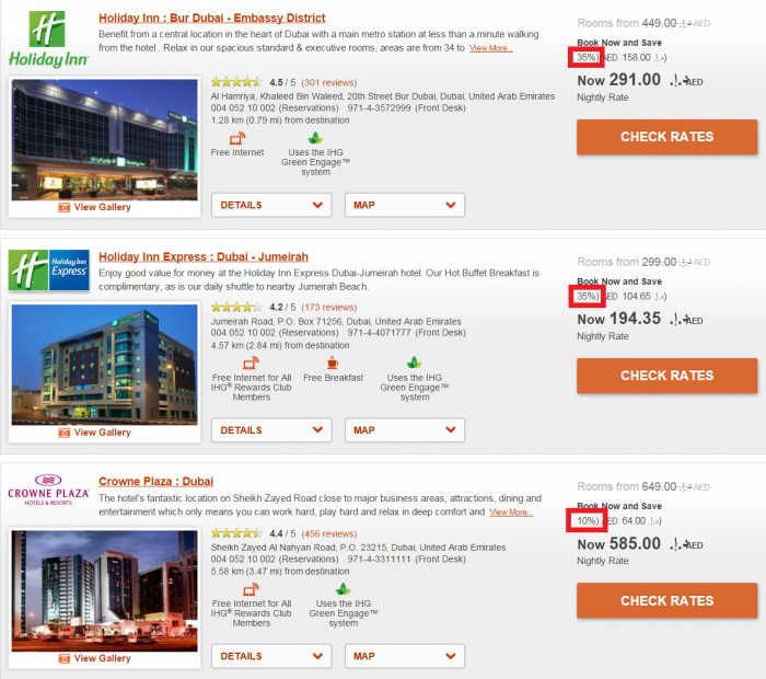 InterContinental Hotels Group IHG Rewards Club Travel Agent Discount Rate DXB 1