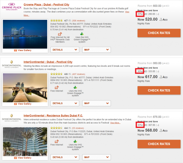 InterContinental Hotels Group IHG Rewards Club Travel Agent Discount Rate DXB 3