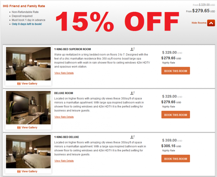 Intercontinental Hotels Group - IHG Rewards Club Friends & Family Rate InterContinental New York Times Square
