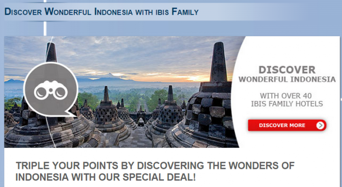 Le Club Accorhotels Indonesia Ibis Triple Points Offer March 2 October 31 2015