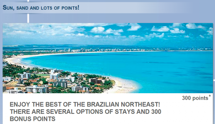 Le Club Accorhotels North Eastern Brazil 300 Bonus Points March 1 April 30 2015