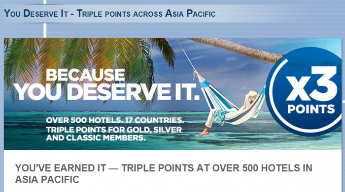 Le Club Accorhotels Quadruple Triple Points Asia Pacific March 16 July 31 2015 3X