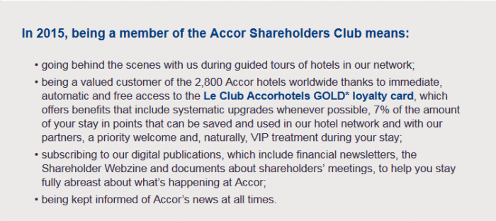 Le Club Accorhotels Shareholders Club Benefits Downgrade Email 2