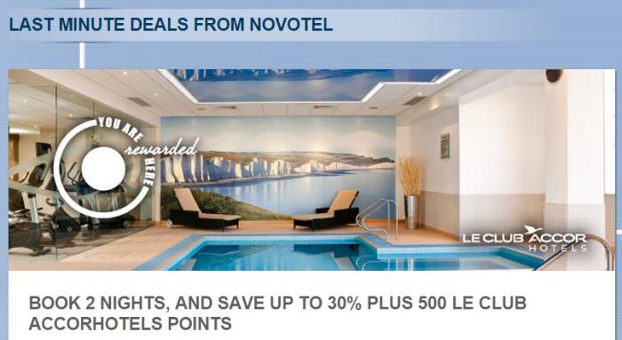 Le Club Accorhotels UK Novotel Offer March 6 - November 6 2015