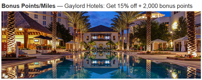 Marriott Rewards Gaylord Spring 2015 Offer