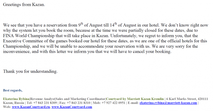 Marriott Rewards Courtyard Kazan