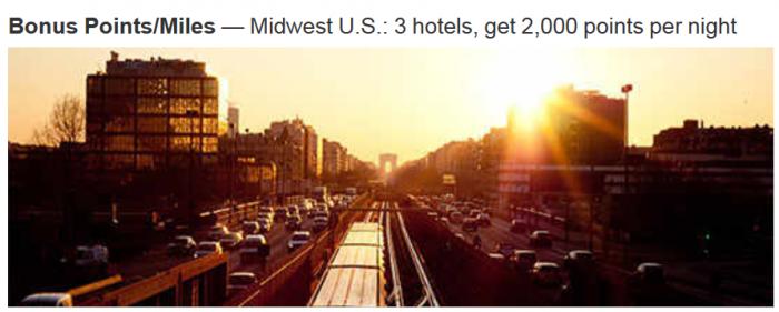 Marriott Rewards Midwest 2,000 Bonus Points Per Night