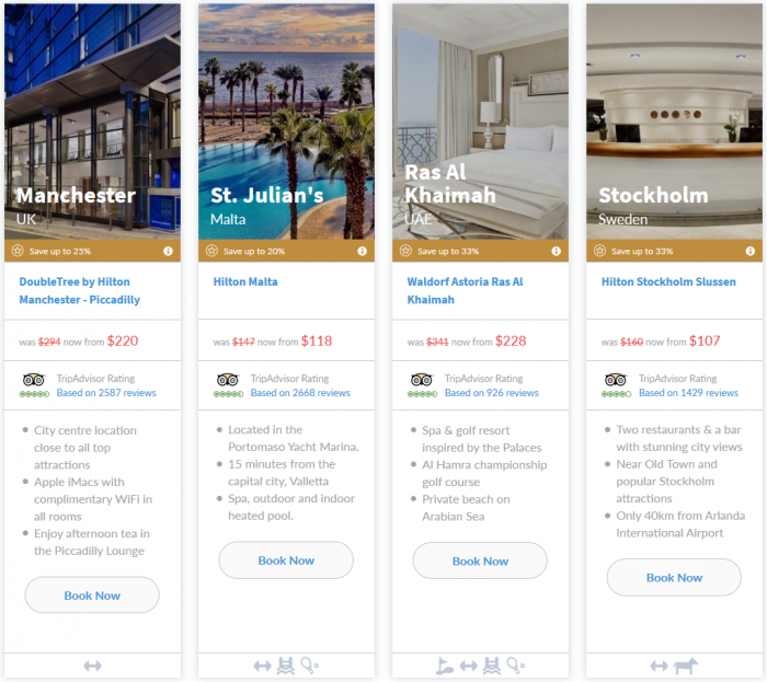 NOW LIVE Hilton Europe Middle East Africa 7-Day Up To 33 Percent Off Flash Sale March 16 - 22 2015 7