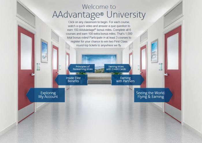 American Airlines AAdvantage University 2