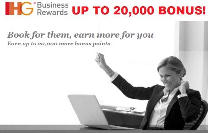 IHG Rewards Club Business Rewards Up To 20,000 Points Promotion April 16 July 31 2015