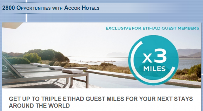 Le Club Accorhotels Etihad Airways Guest Up To Triple Miles Offer April 15 June 15 2015