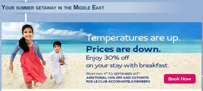 Le Club Accorhotels Middle East Summer Offer May 1 September 30 2015