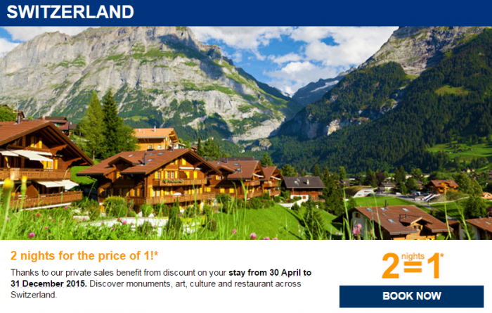 Le Club Accorhotels Private Sales April 2015 Switzerland