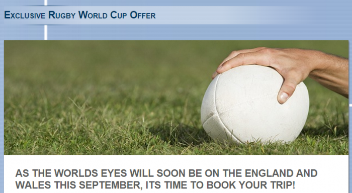 Le Club Accorhotels Rugby World Cup Offer UK & Ireland September 16 - October 31 2015