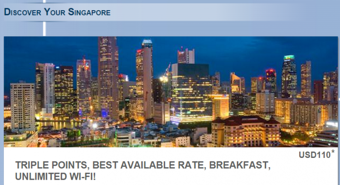 Le Club Accorhotels Singapore Triple Points + Extras Offer March 18 - September 30 2015