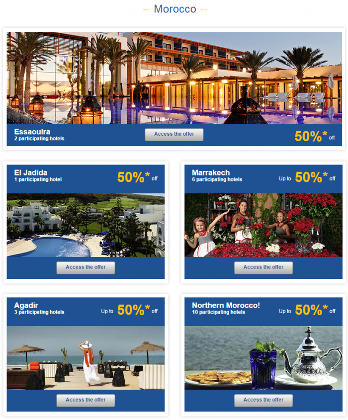 Le Club Accorhotels Weekly Sales April 1 2015 Morocco 1